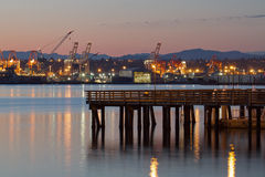 Fishing Pier at Alki Beach Seattle Washington Stock Photography