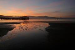 Free Fishing Pier At Sunrise Stock Photography - 23492572