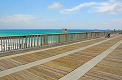 Fishing Pier at Beach Royalty Free Stock Photography