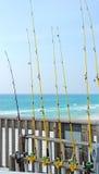 Fishing Pier at Beach Stock Image
