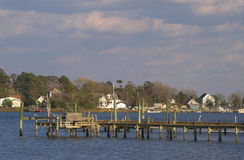 Fishing Pier Boat Dock Royalty Free Stock Images