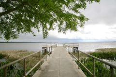 Fishing Pier and Boat Ramp Stock Photo