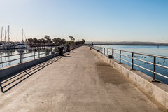 Fishing Pier at Chula Vista Bayfront Park Stock Photo
