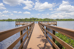 Fishing Pier And Deck Over Water Royalty Free Stock Photography
