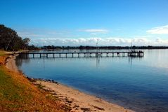 Fishing pier, Eagle Point, small town in Victoria, Australia Royalty Free Stock Photos