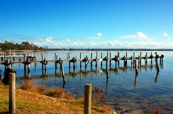 Fishing pier, Eagle Point, small town in Victoria, Australia Stock Images