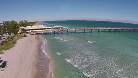 Fishing pier in Florida stock video footage