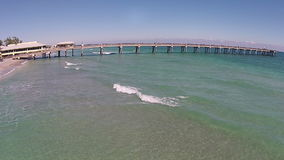Fishing pier in Florida stock footage