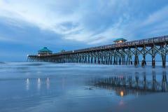 Fishing Pier at Folly Beach Charleston South Carolina royalty free stock photography