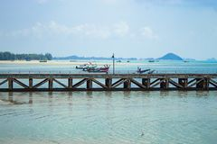 The fishing pier on the island. The fishing pier on the Koh Samui, Thailand Stock Photography