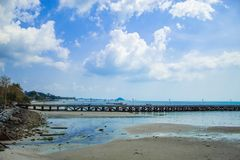 The fishing pier on the island. The fishing pier on the Koh Samui, Thailand Royalty Free Stock Images