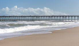 Fishing Pier at Kure Beach, NC royalty free stock images