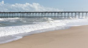 Fishing Pier at Kure Beach, NC stock photography