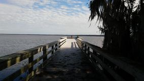 Fishing Pier. Pier on a lake in North Florida Royalty Free Stock Image
