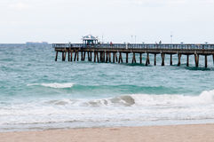 Fishing pier in Lauderdale by the Sea Royalty Free Stock Images