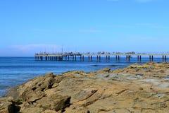 Lorne Pier. Fishing pier in Lorne, Victoria Australia Stock Photos