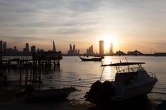 Fishing pier in Manama, Bahrain Royalty Free Stock Photo