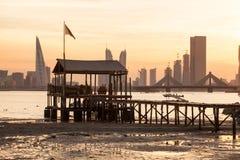 Fishing pier in Manama, Bahrain Royalty Free Stock Image