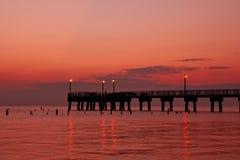 Fishing Pier Morning Stock Photo