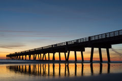 Fishing Pier in the Morning Stock Photography