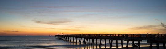Fishing Pier in the Morning Royalty Free Stock Photography