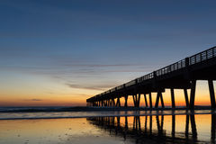 Fishing Pier in the Morning Stock Image