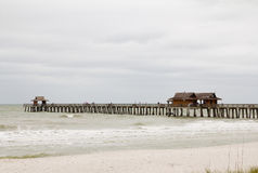 Fishing pier in Naples, Florida Royalty Free Stock Images