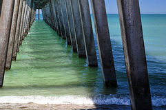 Fishing Pier on the Ocean Royalty Free Stock Photos