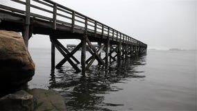 Fishing pier stock video