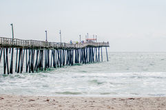 At fishing pier on the Outer Banks, North Carolina Royalty Free Stock Photos