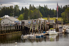 Fishing Pier At Owl's Head, Maine Royalty Free Stock Images