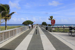 Fishing Pier at Pompano Beach Stock Photography