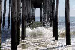 Fishing Pier Splash Royalty Free Stock Image