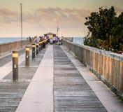 Fishing pier at sunet Royalty Free Stock Photos