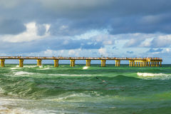 Fishing Pier in Sunny Isles Beach Stock Photos