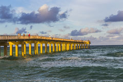 Fishing Pier in Sunny Isles Beach Royalty Free Stock Images