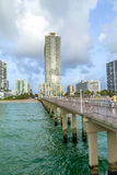 Fishing Pier in Sunny Isles Beach Royalty Free Stock Photography