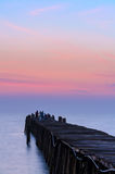 Fishing pier at sunrise Royalty Free Stock Photo