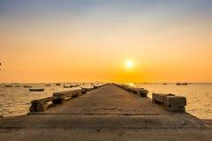 Fishing pier Royalty Free Stock Photos