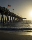 Fishing Pier at Sunset Royalty Free Stock Photos