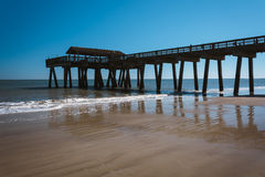 The fishing pier at Tybee Island, Georgia. Stock Image