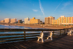 Fishing Pier View of Virginia Beach Boardwalk Royalty Free Stock Photos