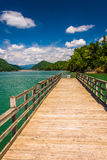 Fishing pier at Watauga Lake, in Cherokee National Forest, Tenne Stock Images