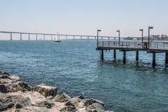 Free Fishing Pier With Coronado Bridge In San Diego Royalty Free Stock Photography - 77171447