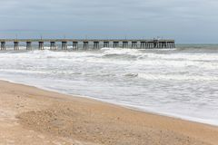 Fishing Pier at Wrightsville Beach, NC stock photography