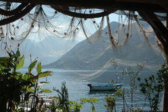 Fishing place in Montenegro Royalty Free Stock Photo