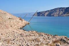 Fishing platforms, tunera in Luk Stock Photo