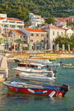 Fishing and pleasure boats in Montenegro Royalty Free Stock Photo