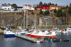 Fishing and pleasure boats in Norway Royalty Free Stock Photo