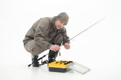 Fishing is always pleasure Royalty Free Stock Photos